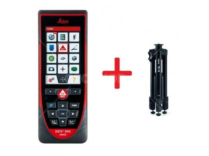 Laserový merač vzdialeností Leica DISTO D810 touch + statív zadarmo!
