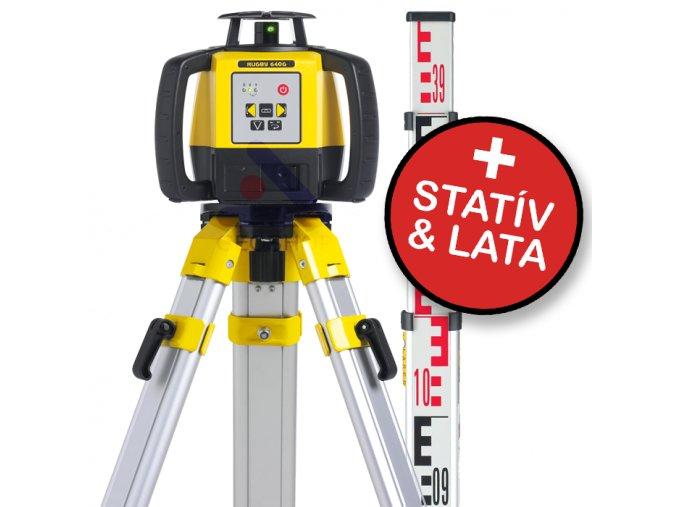 Rotačný laser Leica Rugby 640 + statív a lata