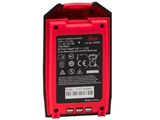 ES8985 Leica Rechargeable Li Ion Battery Pack for Lino 842427 md