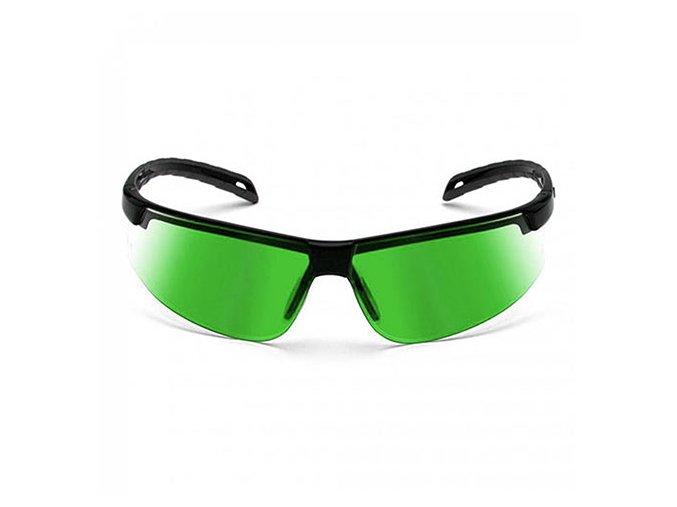 Laserové okuliare pre lepšiu viditeľnosť laserového lúča - zelené