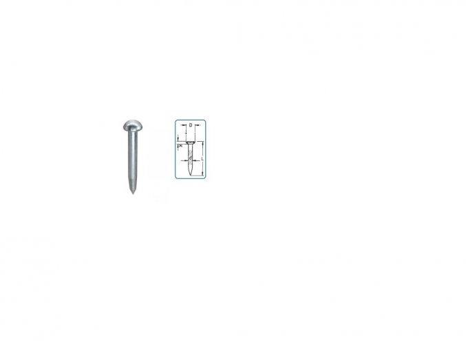 Stabilizačný klinec ZC75 - bez otvoru v hlavičke