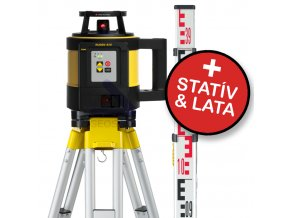 Rotačný laser Leica Rugby 820 + statív a lata