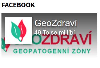 odkaz na Facebook projektu GeoZdraví