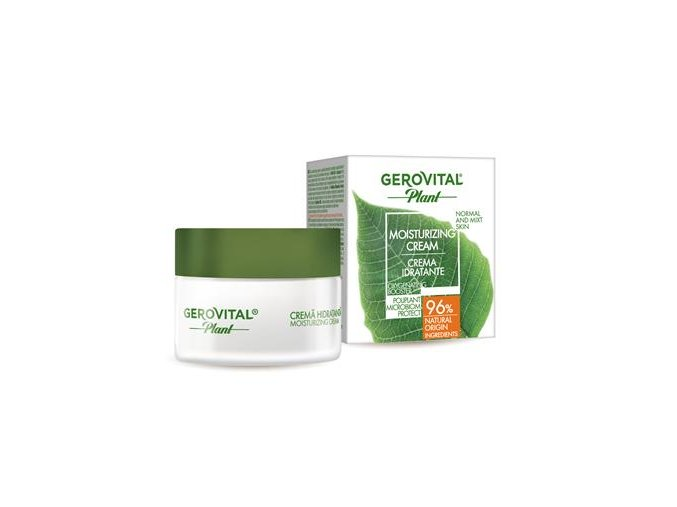 gerovital plant moisturizing cream box and jar