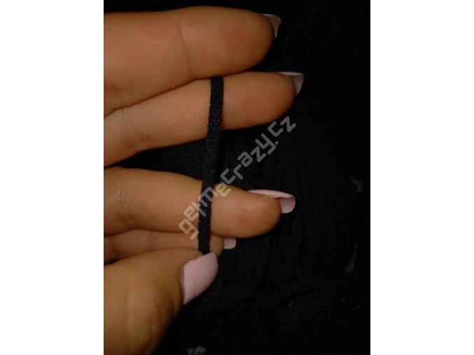 Roušková gumička - černá