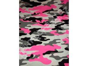 Maskáč neon růžový