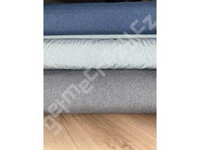 Jeans modrý melír Softshell