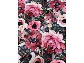 Květy na tmavě šedé (Ú)