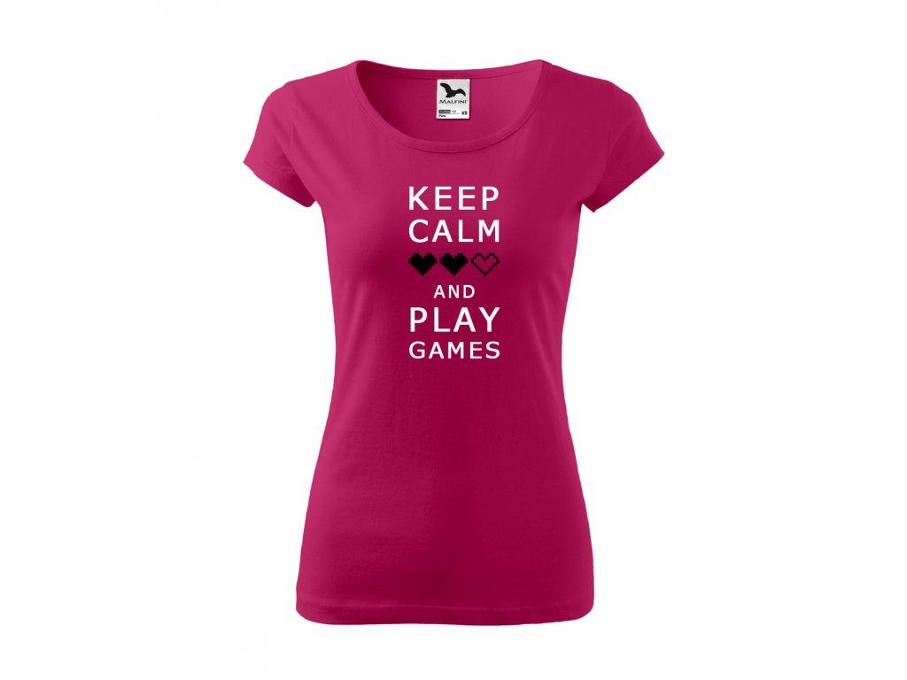 Keep calm F pink