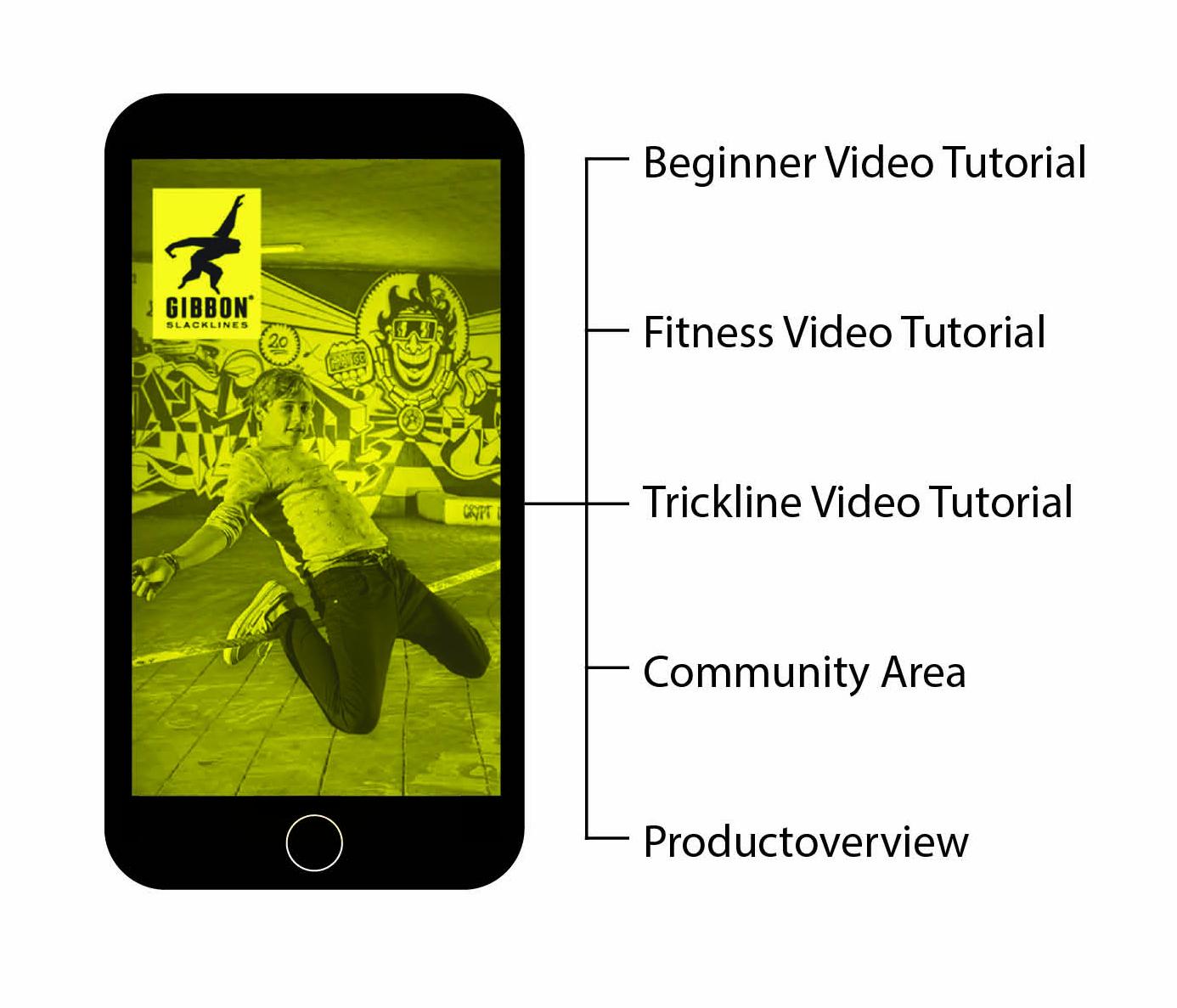 Gibbon Slacklines mobilní aplikace