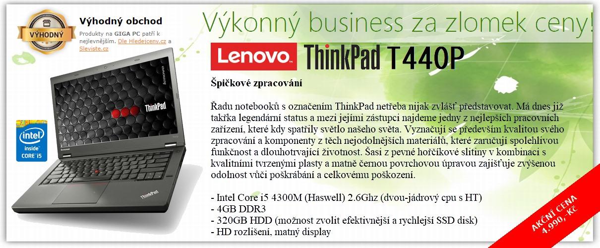 Lenovo ThinkPad T440p v AKCI jen za 4.990,-Kč