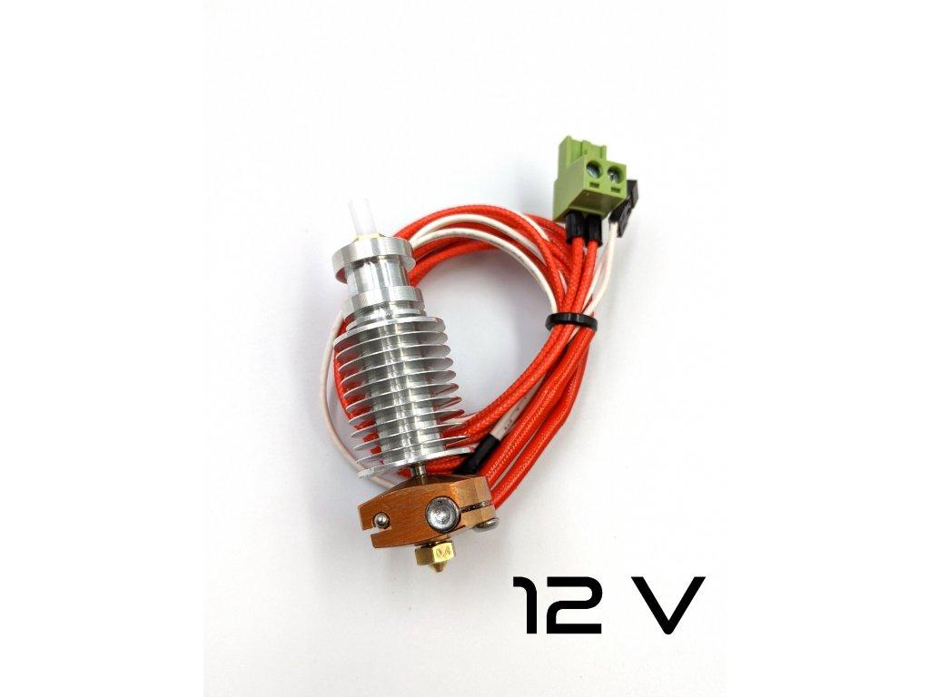 7742 hotend s medenym heatblockem pro mk2 mk3 ptfe tryska 0 4 mm 12v