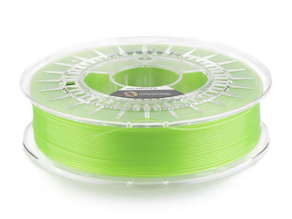 PLA Crystal Clear Kiwi Green speciální více průsvitní filament ve světle zelené barvě