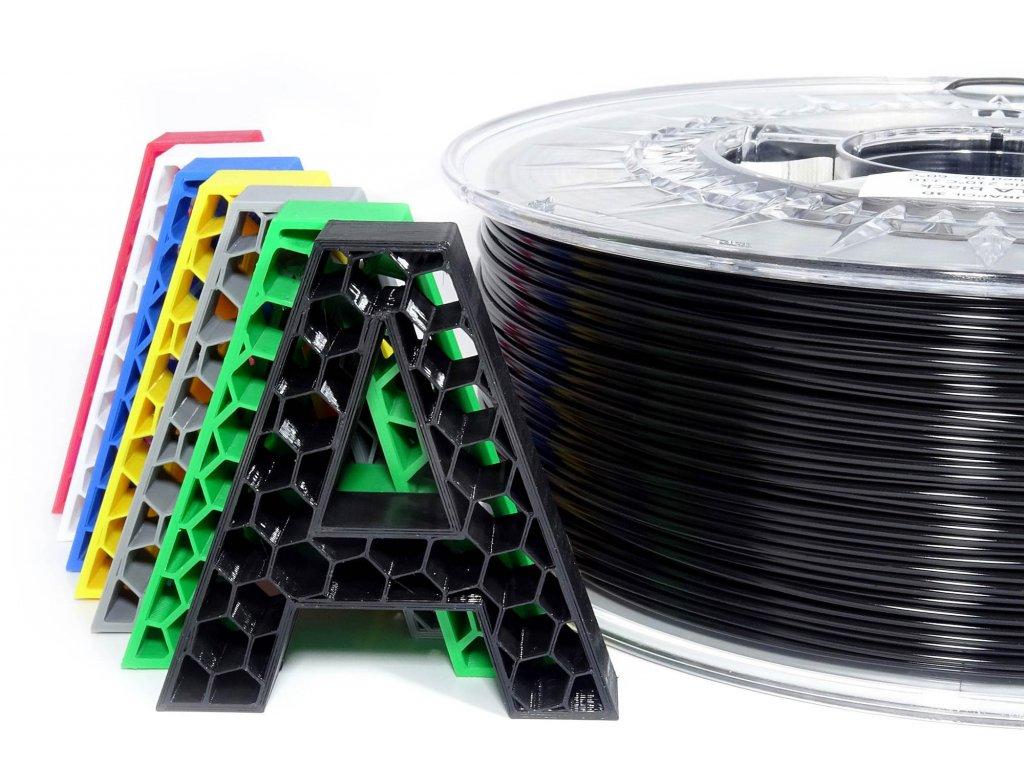 8003 pla filament cerny 1 75 mm aurapol 1kg