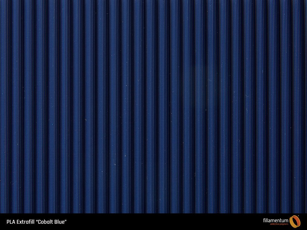 PLA Extrafill Cobalt Blue Sample Cassette