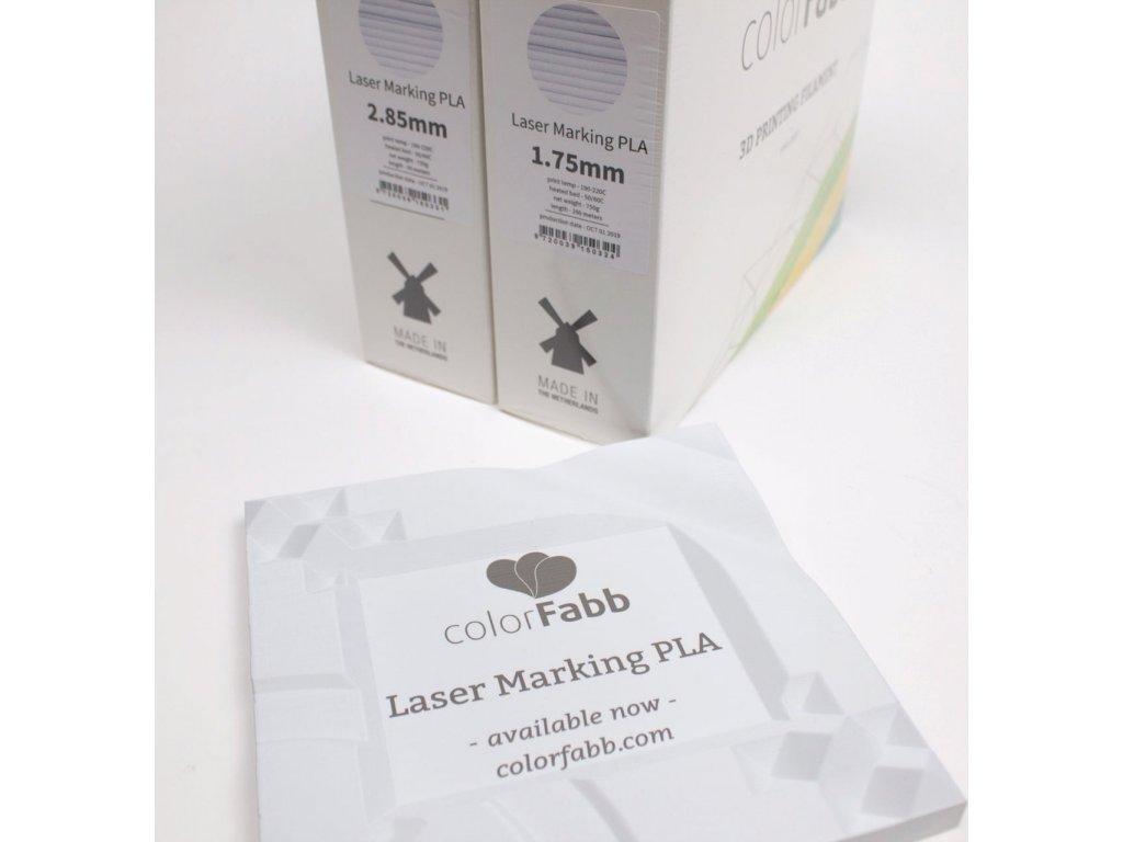 8960 6 vzorek 20 metru laser marking pla filament 1 75mm colorfabb svetle sedy