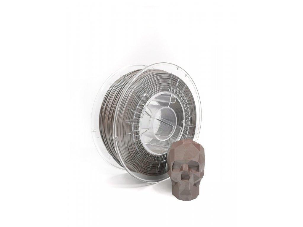 9450 2 pla filament z recyklatu 1 75 mm satin hneda eko mb 1 kg