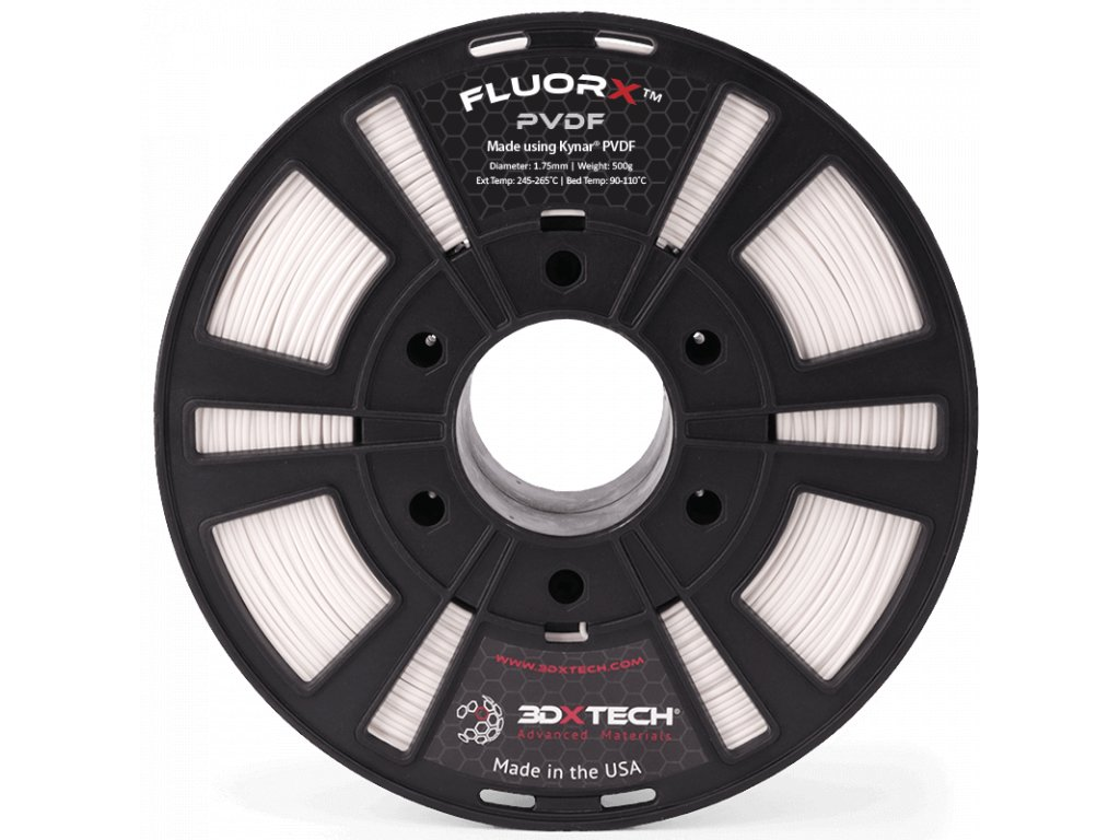 445 PVDF 175mm White 500g 3D Printer Filament