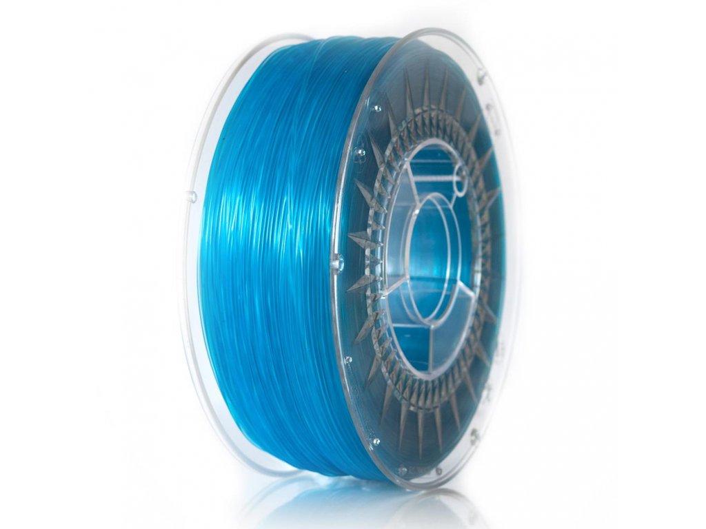 ABS filament Devil Design modrý transparent