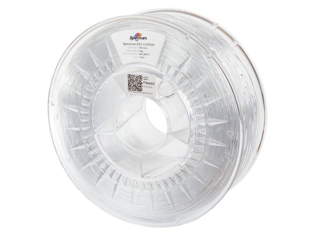 PETG HT100 filament Clear 1,75 mm Spectrum 1 kg