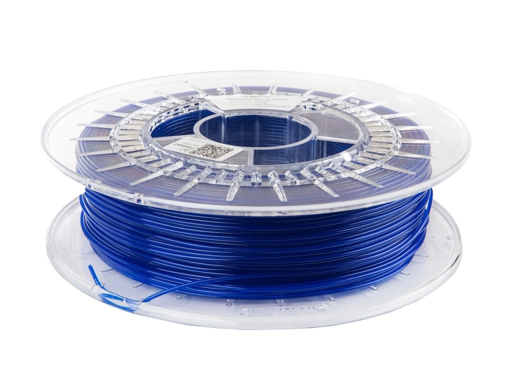 6314 1 petg ht100 filament transparent blue 1 75 mm spectrum 0 5 kg