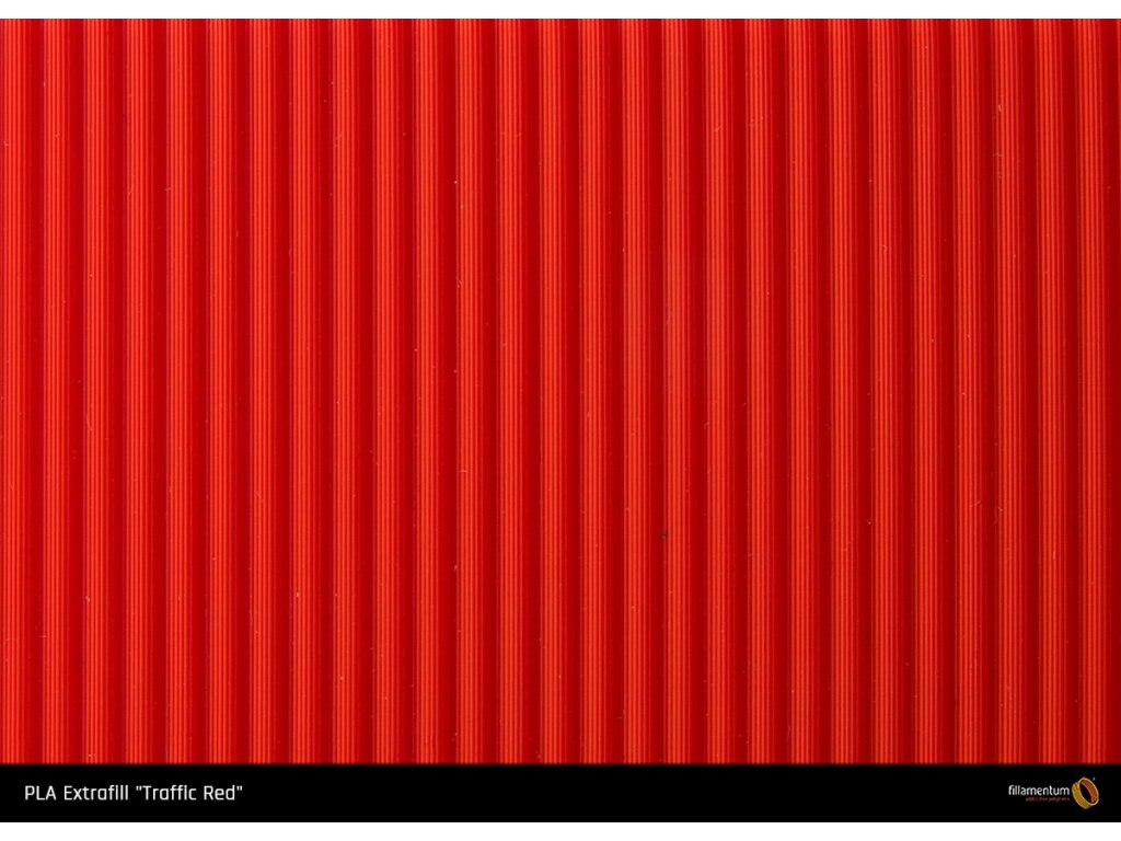 PLA Extrafill Traffic Red sample preview