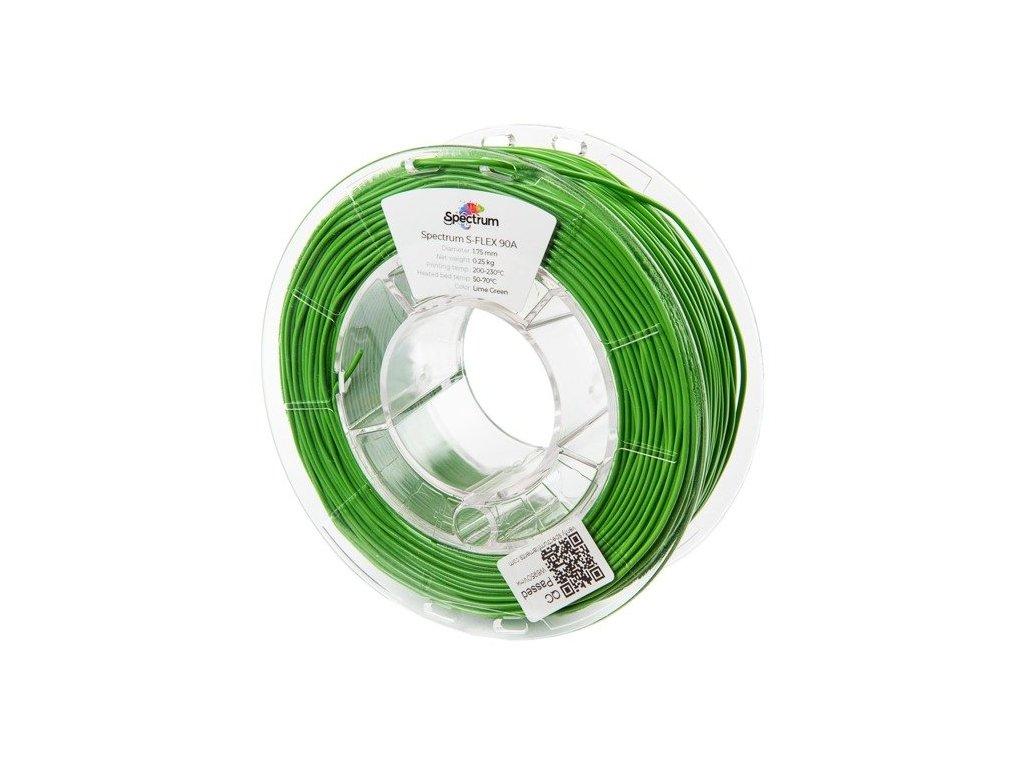 eng pl Filament S Flex 90A 1 75mm LIME GREEN 0 25kg 1199 1