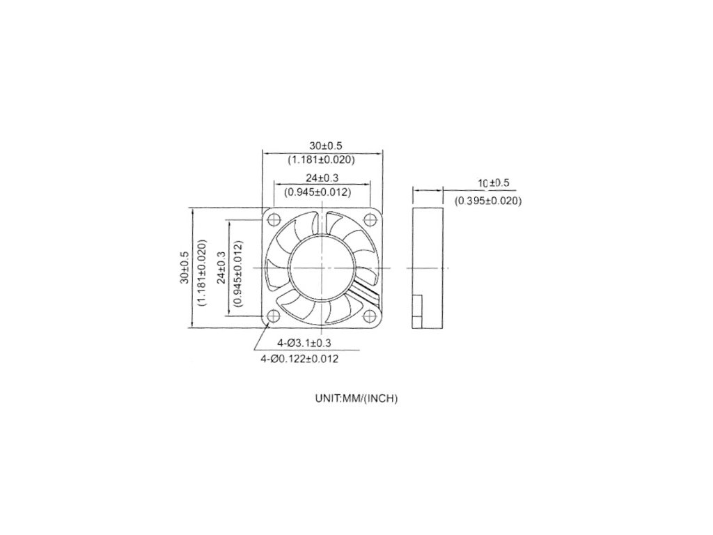 rebelove ventilator dvouložiskový 3010 12V