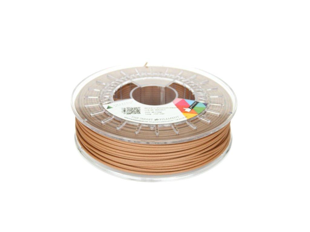 WOOD filament hnědý ořech 2,85 mm Smartfil 750 g