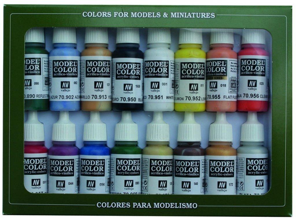 7094 vallejo model color 16 color set 70140 basic colors usa 16