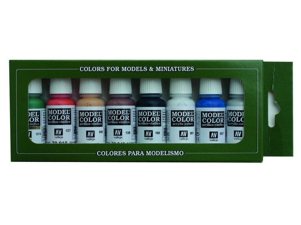 7073 vallejo model color 8 colors set 70103 wargames basics 8