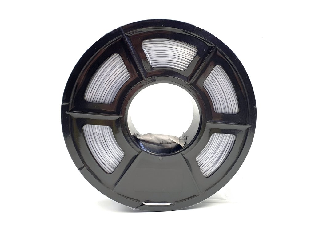 PLA Silk filament hedvábný stříbrný 1,75mm 1kg Fiber3D