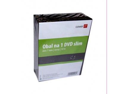 cover it box na 1 dvd slim 7mm cierny balenie po 10ks ien99777
