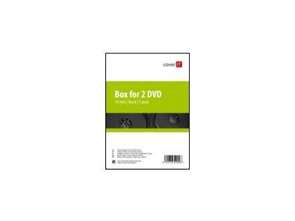 COVER IT - Box na 1 DVD, 14 mm, černý, baleni po 10ks