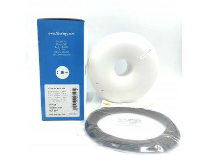 9062 vzorek 20 metru fiberflex 40d filament cerny 1 75mm fiberlogy