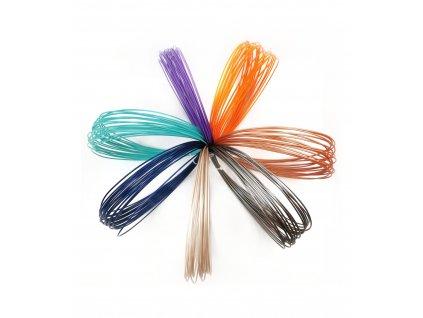 9672 1 pla vzornik z recyklatu 7 barev 1 75mm eko mb nove barvy