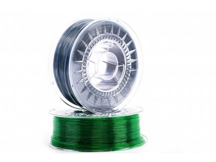 6350 1 pet filament z recyklatu 1 75 mm modrosedy transparent eko mb 1 kg