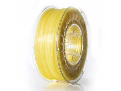 PLA filament 1,75 mm jasný žlutý transparent Devil Design 1kg