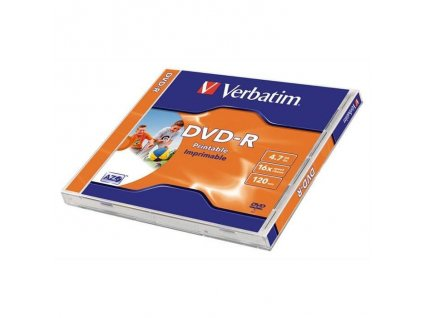 verbatim dvd r 4 7gb 16x printable jewel 1ks ien364893 z1