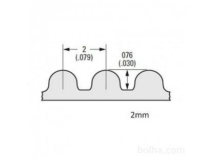7325 remen gt2 1m skelne vlakno