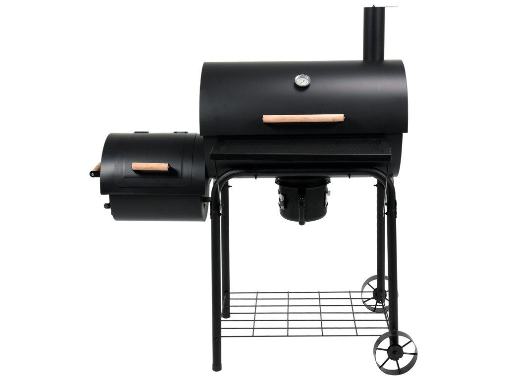 LUND gril na dřevěné uhlí s udírnou (99597)