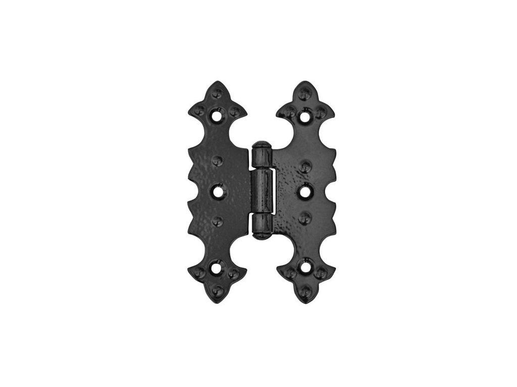 GNT Pant černý, 52 x 78 mm,retro  ozdobný, Z-06
