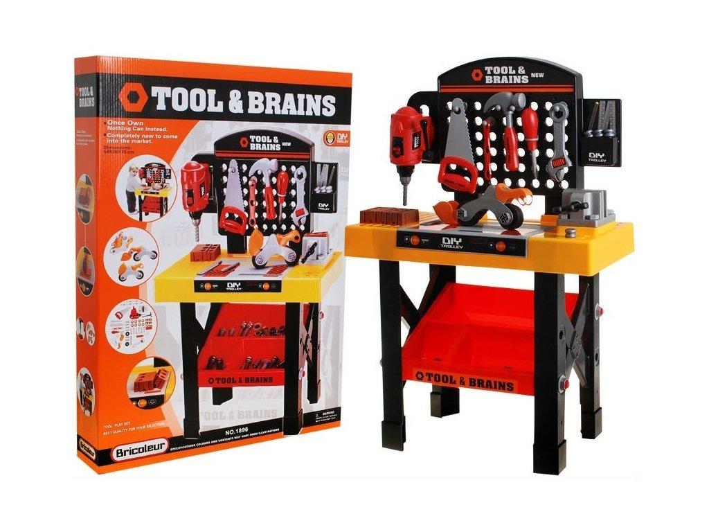 Kinderplay dílna s nářadím Tool & Brains