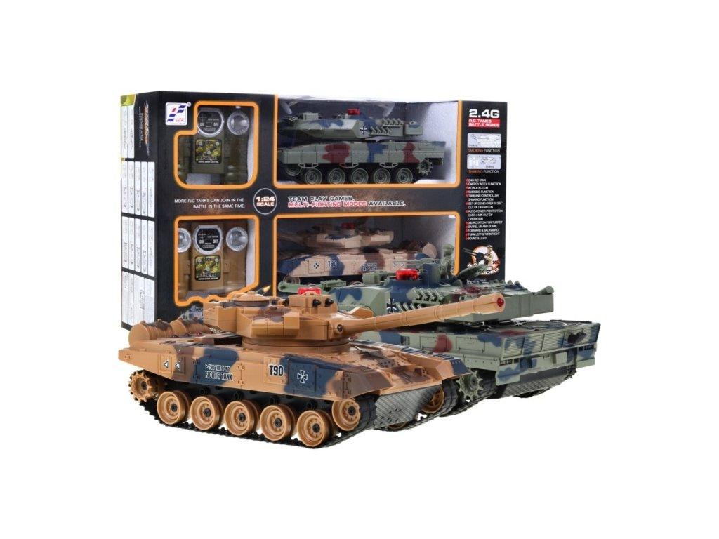 Sada 2 bojových tanků T-90 vs. LEOPARD 2 1:24