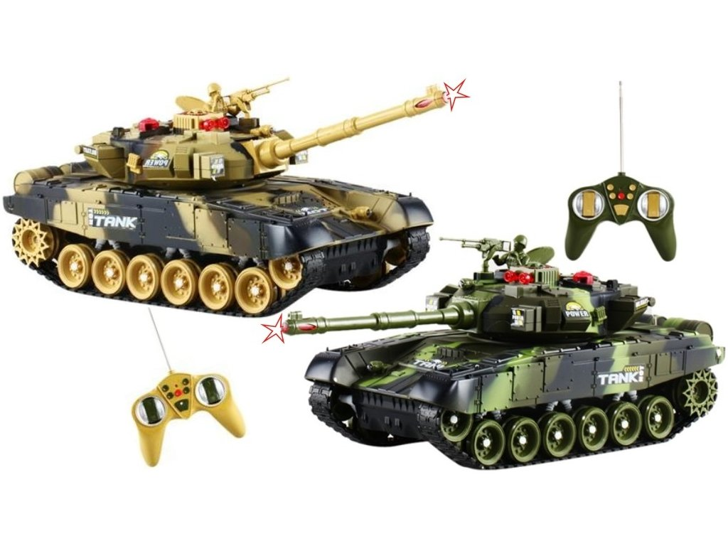 RC Tank WAR set 2ks boj 1:36