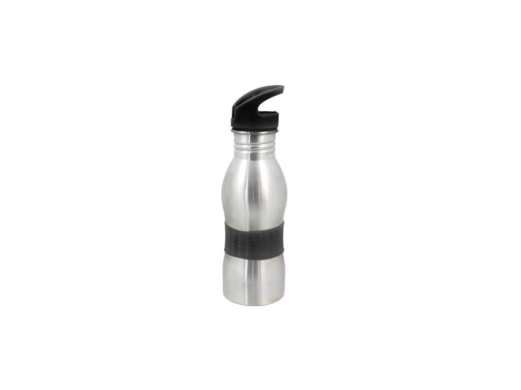 Termoska - termohrnek stříbrná/černá 550ml