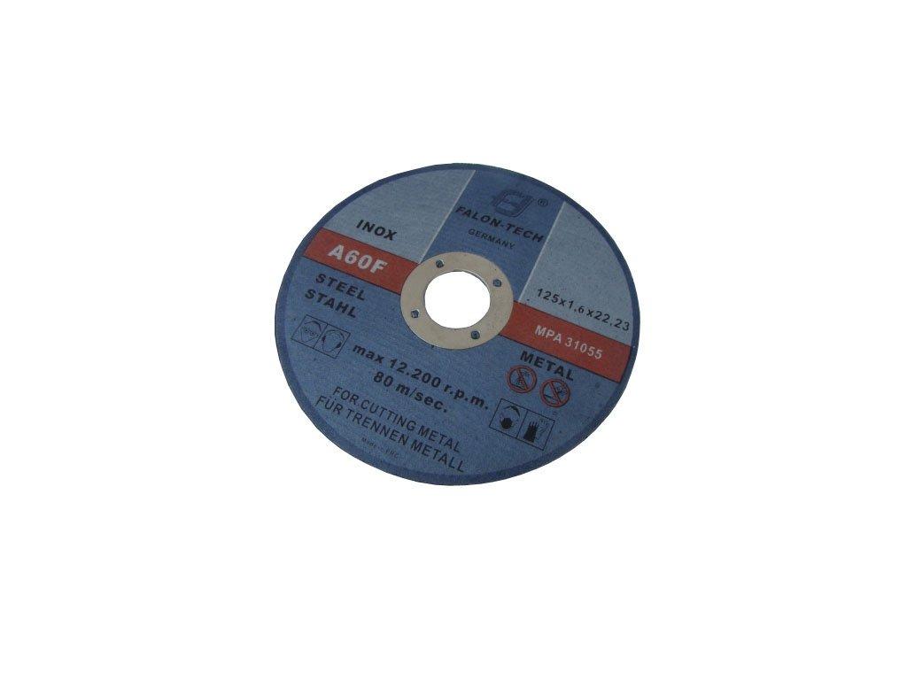 Řezný kotouč na kov 125 x 1.6 mm