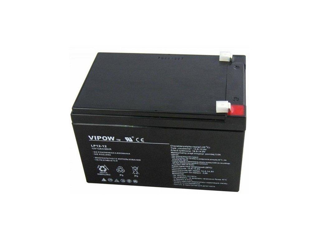 Baterie olověná 12V/12Ah - bezúdržbový akumulátor