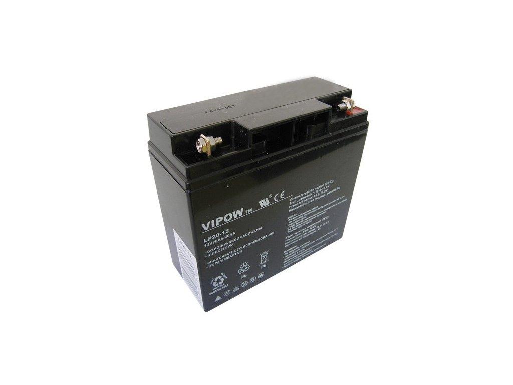 Baterie olověná 12V/20Ah VIPOW bezúdržbový akumulátor