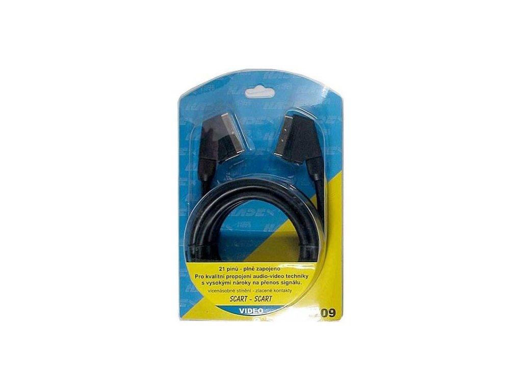 Scart kabel 3 m-jednotlivá stínění